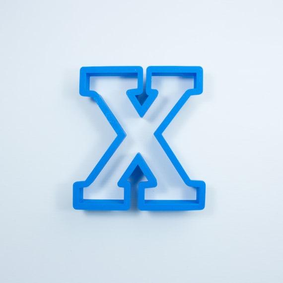 Block Letter X Cookie Cutter | Alphabet Cookie Cutters | Letter Cookie Cutters | ABC Cookie Cutters | Block Letters Alphabet Cookie Cutters