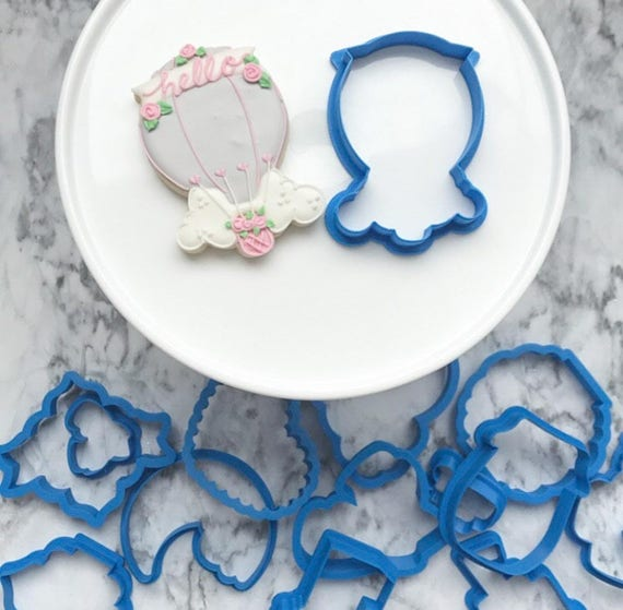The Flour de Lis Hot Air Balloon Clouds Cookie Cutter