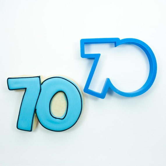 Number 70 Cookie Cutter | Seventy Cookie Cutter | Number Cookie Cutters | Birthday Cookie Cutters | Unique Cookie Cutters