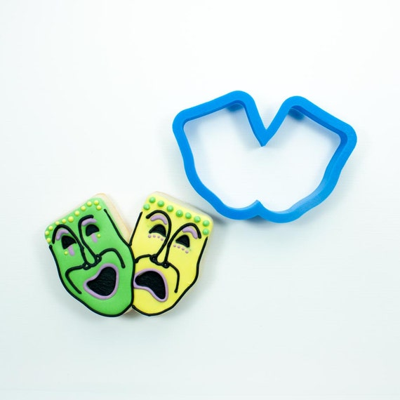 Theater Mask Cookie Cutters | Mask Cookie Cutter | Drama Cookie Cutters | 3D Cookie Cutters | Unique Cookie Cutters