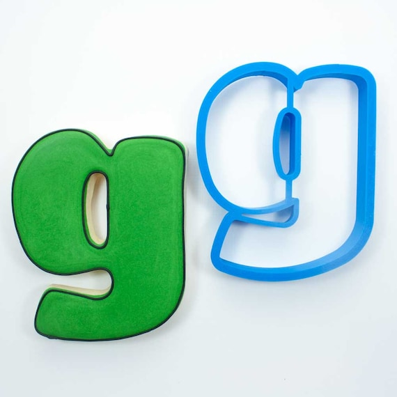 Letter G Cookie Cutter | Alphabet Cookie Cutters | Letter Cookie Cutters | ABC Cookie Cutters | Large Alphabet Cookie Cutters