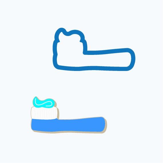 Toothbrush Cookie Cutter   Dental Cookie Cutter   Dentist Cookie Cutter