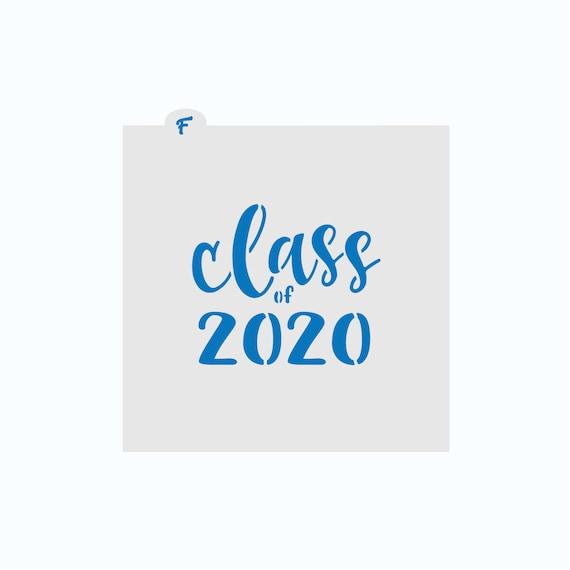 Class of 2020 Stencil | Graduation Stencil | Cookie Stencil | 2020 Stencil | Class of 2020 Cookie | Graduation Cookie | FrostedCo
