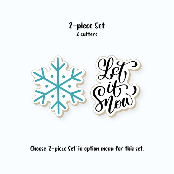 Christmas Cookie Cutters | Let it Snow Cookie Cutters | Let it Snow Cookie Cutter Set | Snowflake Cookie Cutter | FrostedCo