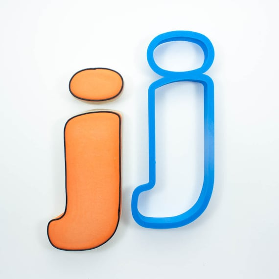 Letter J Cookie Cutter | Alphabet Cookie Cutters | Letter Cookie Cutters | ABC Cookie Cutters | Large Alphabet Cookie Cutters