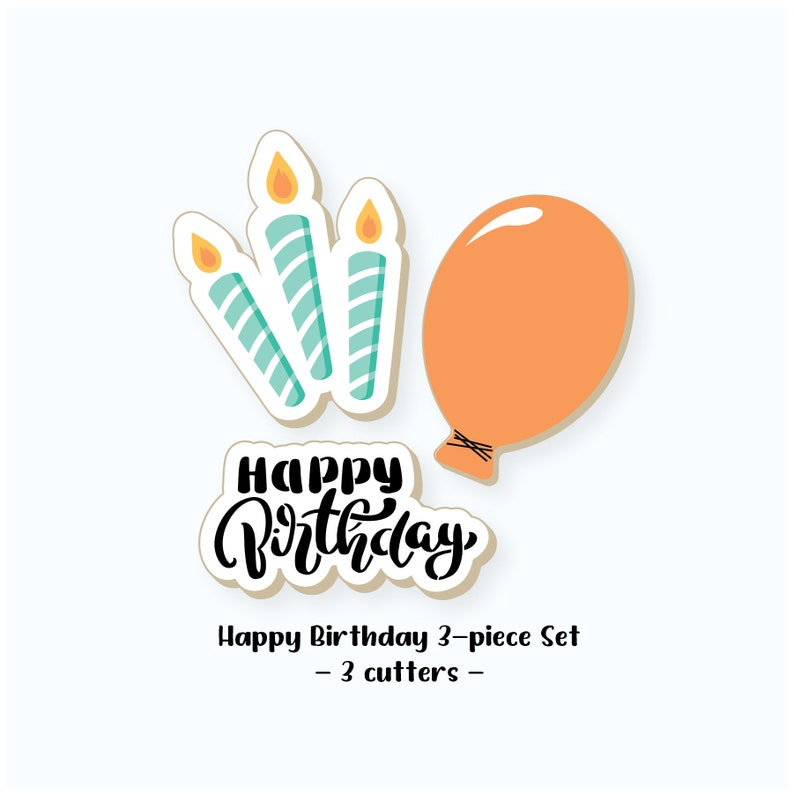Birthday Cookie Cutters  Happy Birthday Cookie Cutters  image 0