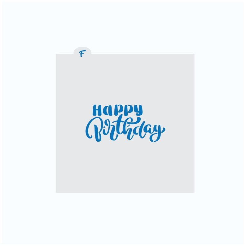 Birthday Stencil  Happy Birthday Cookie Stencil  Birthday image 0