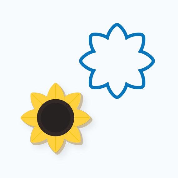 Sunflower Cookie Cutter | Simple Sunflower | Flower | Fall Flower