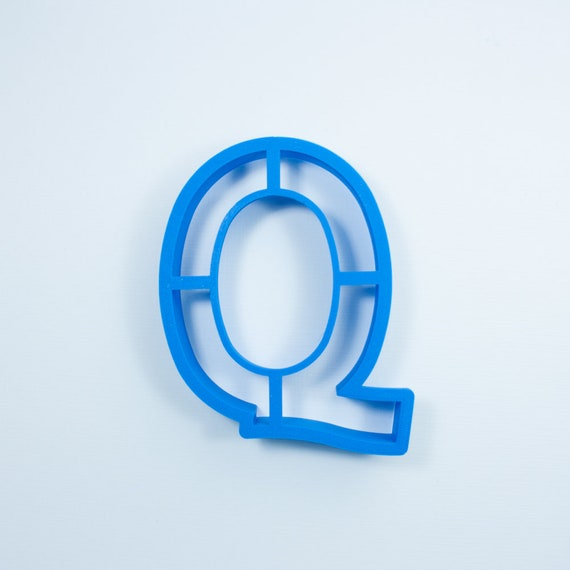 Block Letter Q Cookie Cutter | Alphabet Cookie Cutters | Letter Cookie Cutters | ABC Cookie Cutters | Block Letters Alphabet Cookie Cutters