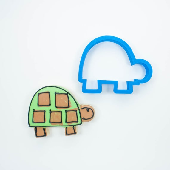 Modern Turtle Cookie Cutter | Animal Cookie Cutters | Mini Cookie Cutters | Unique Cookie Cutters | 3D Cookie Cutters | Custom Cookie Cutter