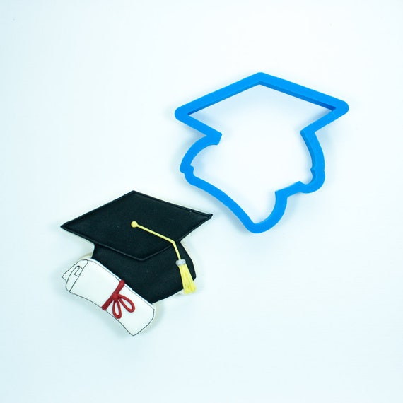 Graduation Cap with Diploma Cookie Cutter | Graduation Cookie Cutters | Mini Grad Cap Cookies | Diploma Cookie Cutters