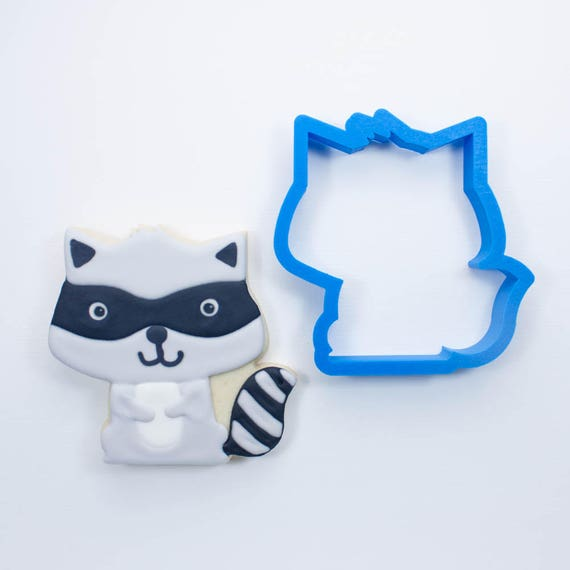 Woodland Raccoon Cookie Cutter | Animal Cookie Cutter | Woodland Cookie Cutters | Custom Cookie Cutters | Unique Cookie Cutters