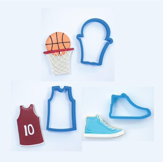 Basketball Set - Basketball with Net, Basketball Jersey and Basketball Shoe Cookie Cutters
