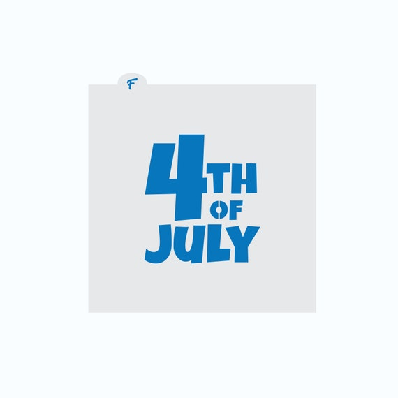 4th of July Cookie Stencil | Independence Day Cookie Stencil | Cookie Stencil | Craft Stencil | FrostedCo