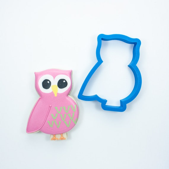 Chubby Owl Cookie Cutter | Owl Cookie Cutters | Animal Cookie Cutters | Baby Shower Cookie Cutters | Mini Cookie Cutters | 3d Cookie Cutters