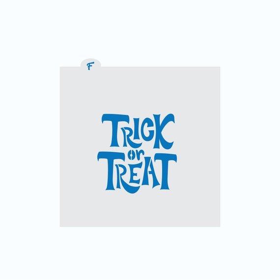 Halloween Stencil | Trick or Treat Plaque Cookie Stencil | Cookie Stencil | Halloween Cookie Stencil | Trick or Treat Stencil | FrostedCo
