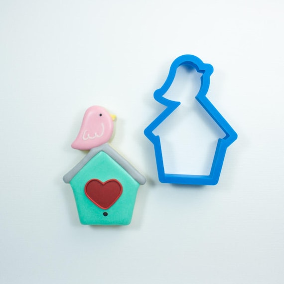 Bird House with Bird Cookie Cutter