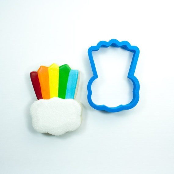 Rainbow with Cloud Cookie Cutter