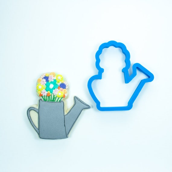 Watering Can with Flowers Cookie Cutter