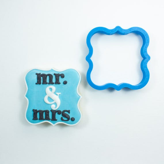 Fancy Square Plaque Cookie Cutter