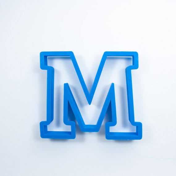 Block Letter M Cookie Cutter | Alphabet Cookie Cutters | Letter Cookie Cutters | ABC Cookie Cutters | Block Letters Alphabet Cookie Cutters