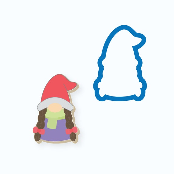Gnome Cookie Cutter | Girl Gnome | Female Gnome | Winter | Christmas | Valentines Day