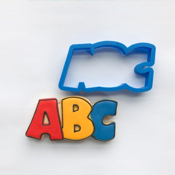 ABC (upper case) Cookie Cutter | ABC Cookie Cutter | Letter Cookie Cutters | School Cookie Cutters | Unique Cookie Cutters