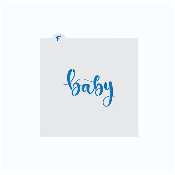 Baby Stencil | Baby Plaque Stencil | Cookie Stencil | Baby Shower Stencil | Baby Word Stencil | Craft Stencil