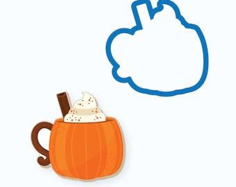 Pumpkin Cookie Cutter   Pumpkin Mug   Fall Cookie Cutter   Thanksgiving Cookie Cutter   Pumpkin Mug with Whipped Cream