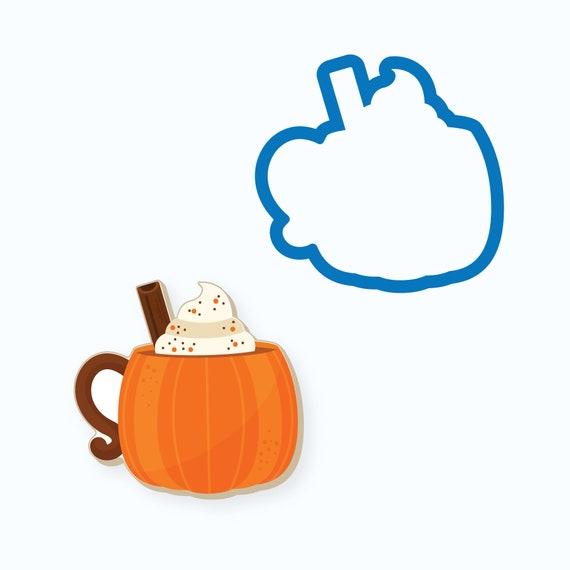 Pumpkin Cookie Cutter | Pumpkin Mug | Fall Cookie Cutter | Thanksgiving Cookie Cutter | Pumpkin Mug with Whipped Cream