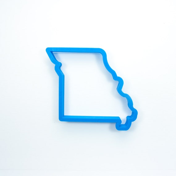 Missouri Cookie Cutter | State Cookie Cutters | State Shaped Cookie Cutters | USA Cookie Cutters | 3D Cookie Cutters