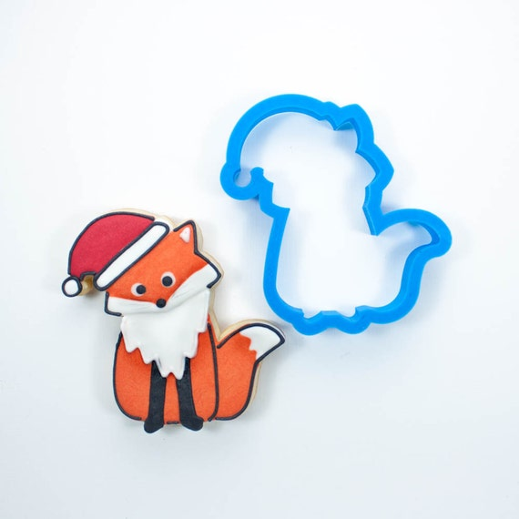 Fox with Santa Hat Cookie Cutter