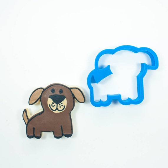 Whimsy Dog Cookie Cutter | Dog Cookie Cutter | Doggie Cookie Cutter | Dog Treat Cookie Cutters | Dog Bone Cookie Cutters | Custom Dog Treats