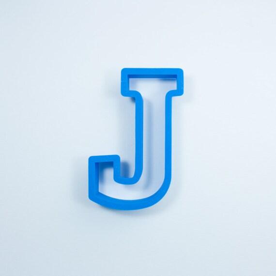 Block Letter J Cookie Cutter | Alphabet Cookie Cutters | Letter Cookie Cutters | ABC Cookie Cutters | Block Letters Alphabet Cookie Cutters
