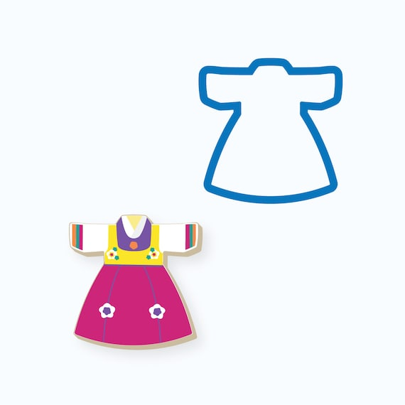 Girls Hanbok Outfit Cookie Cutter