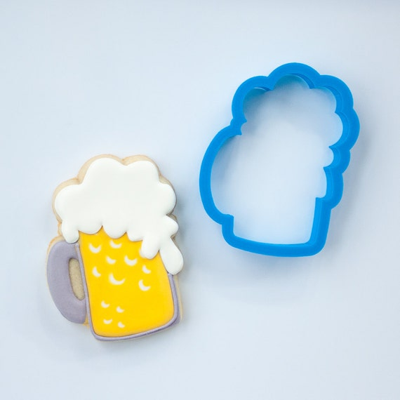 Beer Mug Cookie Cutter | Beer Cookie Cutter | Father's Day Cookie Cutter | Mug Cookie Cutter | Unique Cookie Cutter | Frosted Cutters