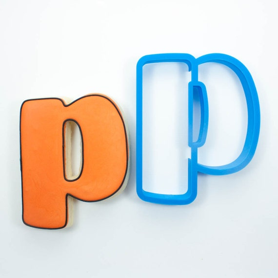 Letter P Cookie Cutter   Alphabet Cookie Cutters   Letter Cookie Cutters   ABC Cookie Cutters   Large Alphabet Cookie Cutters