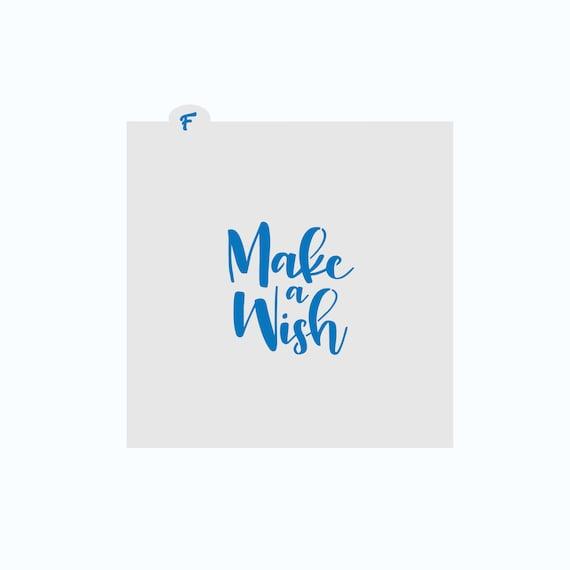 Birthday Stencil | Make a Wish Cookie Stencil | Birthday Cookie Stencil | Birthday Craft Stencil | FrostedCo