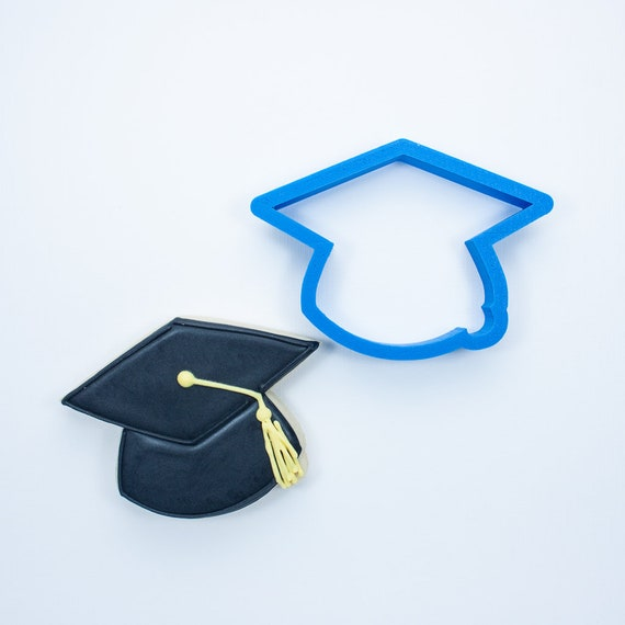 Graduation Set - Graduation Cap, Graduation Diploma, and Ribbon Plaque Cookie Cutters