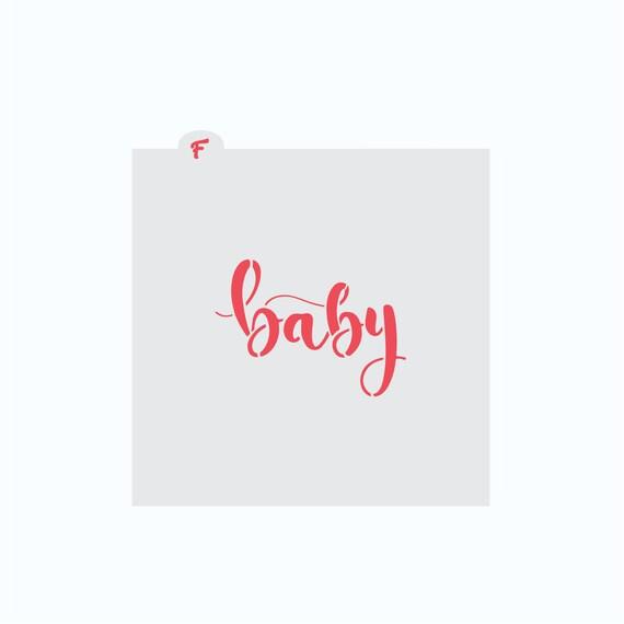 Baby Stencil | Baby Plaque Stencil | Cookie Stencil | Baby Shower Stencil | Baby Cookie Cutter | Baby Word Stencil | FrostedCo