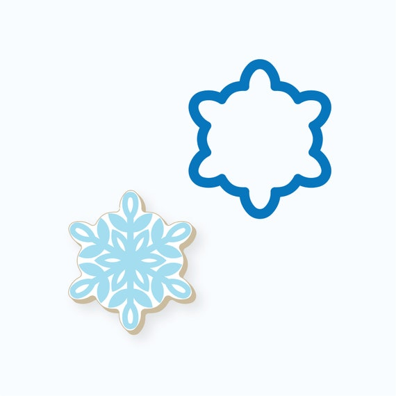 One Point Snowflake Cookie Cutter