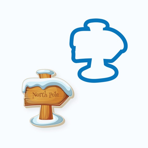 Chubby North Pole Sign Cookie Cutter