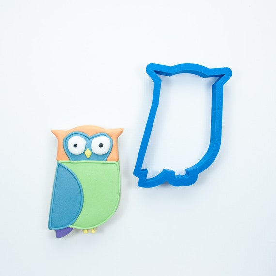 Modern Owl Cookie Cutter | Owl Cookie Cutters | Large Owl Cookie Cutters | Owl Shaped Cookie Cutter | Animal Cookie Cutters | 3d Cookie