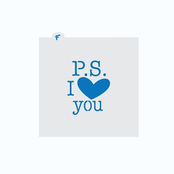 Valentines Cookie Stencil | P.S. I Love You Cookie Stencil | Love Letter Stencil | Cookie Stencil | Valentines Stencil | Craft Stencil