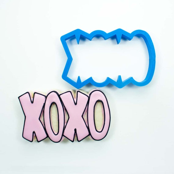 XOXO (taller) Cookie Cutter | Love Cookie Cutter | Valentines Cookie Cutter | Heart Cookie Cutter | Heart Shaped Cookie Cutter