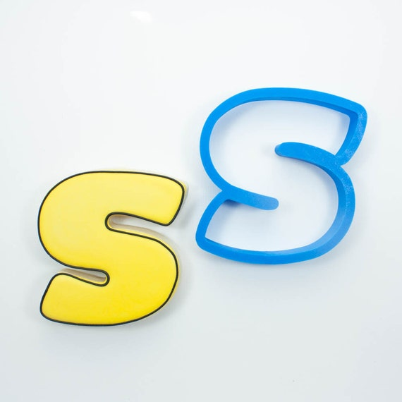 Letter S Cookie Cutter | Alphabet Cookie Cutters | Letter Cookie Cutters | ABC Cookie Cutters | Large Alphabet Cookie Cutters