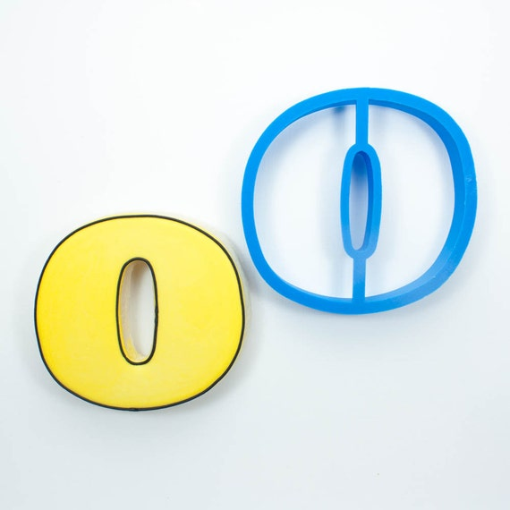 Letter O Cookie Cutter | Alphabet Cookie Cutters | Letter Cookie Cutters | ABC Cookie Cutters | Large Alphabet Cookie Cutters