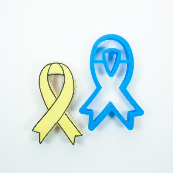 Awareness Ribbon Cookie Cutter (With Cutout)