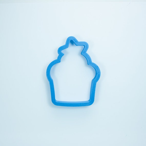 Cupcake with Star Cookie Cutter