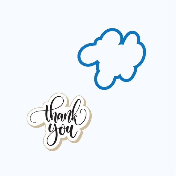 Thank You Cookie Cutter | Thank You Plaque Cookie Cutter | Thanks Cookie Cutter | Plaque Cookie Cutter | FrostedCo